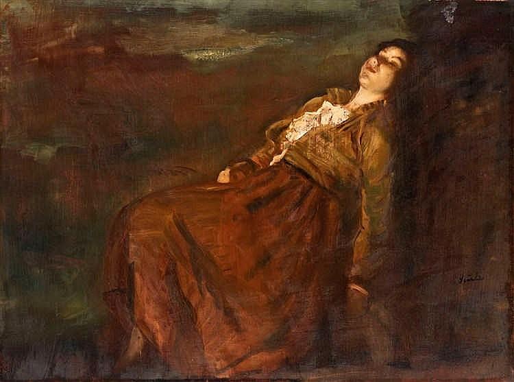 Resting lady