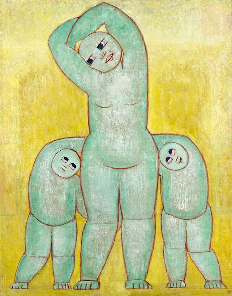 Gymnast (Mother with her children)