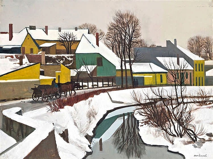 Szentendre landscape (Winter village)