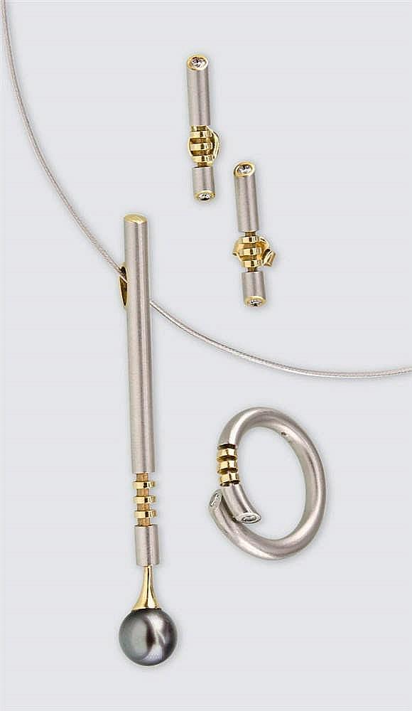Platina jewellery set