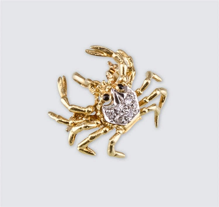 Crab-shaped pin