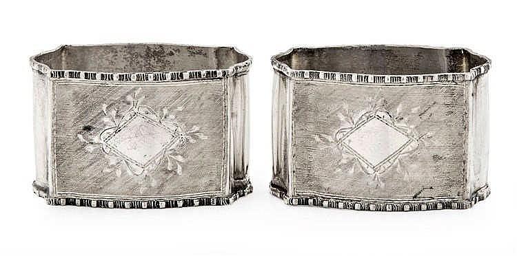 Pair of serviette rings