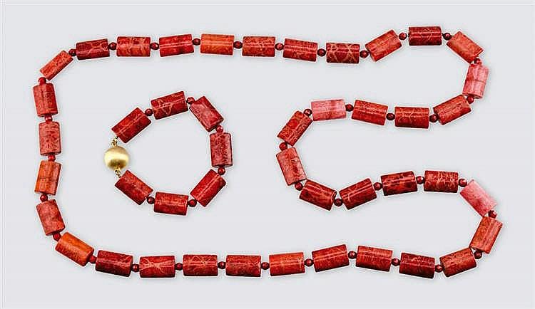 Coral jewellery set
