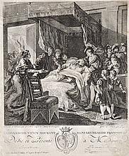 Louis Garreau, 18th century  - Death of Leonardo da Vinci