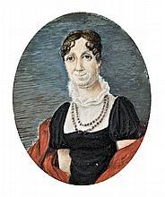 Austrian miniature painter, 19th century  - Portrait of a woman