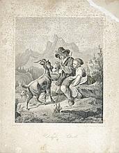 E. Derlinger, 19th century  - Shepherd children