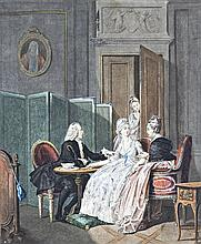 French artist, 19th century  - In the salon