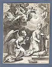 Theodor Galle (Antwerpen, 1571-1633) - Annunciation of the angels