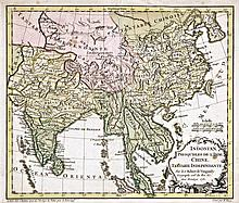Map of India and China