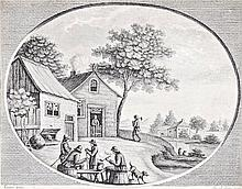 Joseph ab Acqua, 18th century  - Gossiping