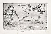 Pit Morell (Kassel, 1939 - ) - Spaziergang im Land der idealen Atrappe