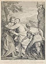 Louis Desplaces (Párizs, 1682 - 1739) - Between sin and virtue