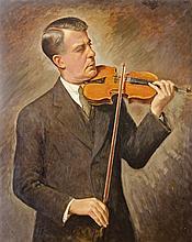 Góth Imre (Szeged, 1893 - London, 1982) - Self-portrait with violin