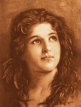 Pythia sign, around 1900  - Portrait of a woman