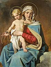 Josef Plank (1815 - 1901) - Mary with the child Jesus, 1900