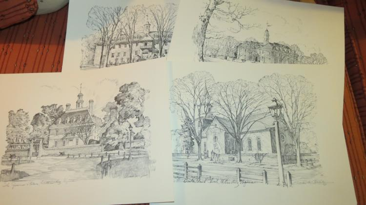 Four Sketching Of Williamsburg