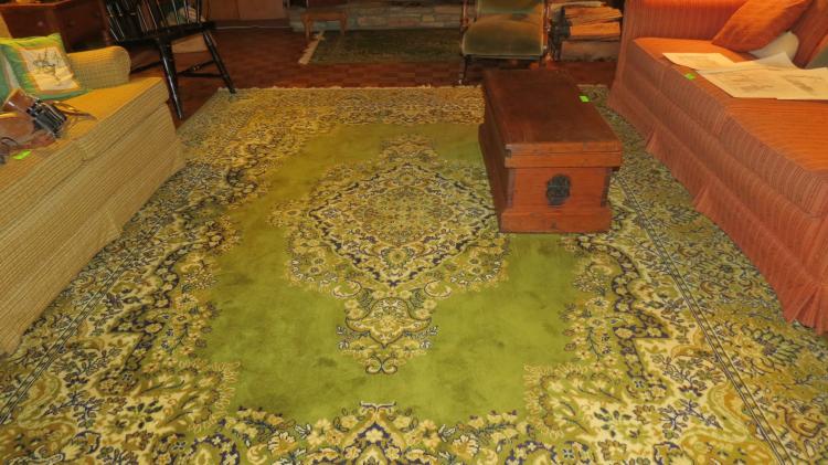 Three Matching Green Area Rugs