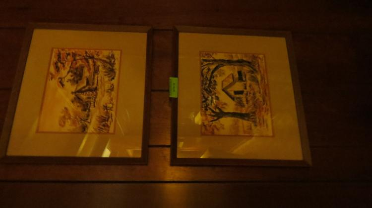 Two Framed Water Colors Dated 1959