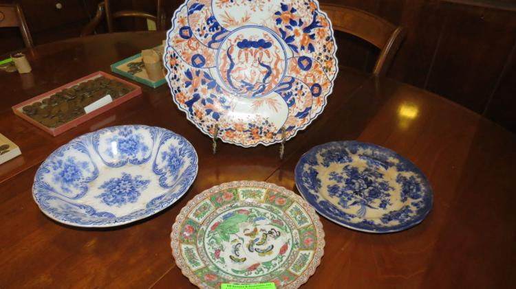 Four Assorted Pieces Of China including Meissen