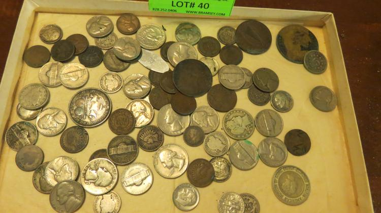 Tray Collection Of Assorted Coins