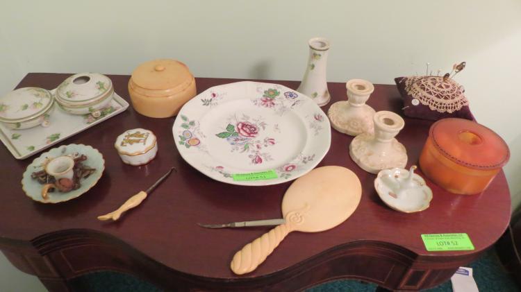 Fourteen Assorted Dresser Objects