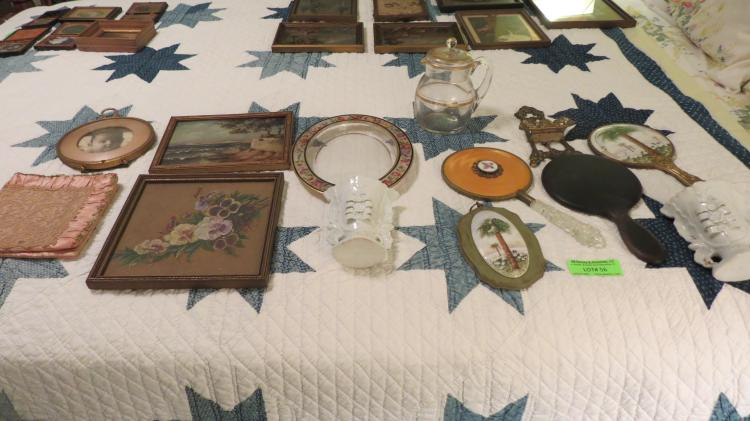 13 Pieces Of Assorted Dresser Objects