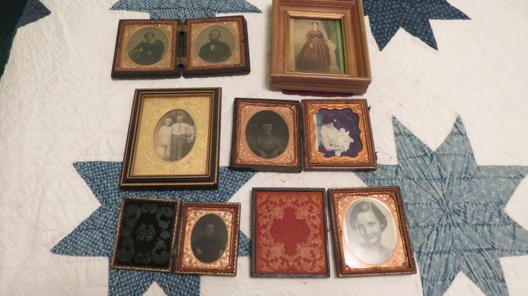 Collection Of Early Photos / Tins