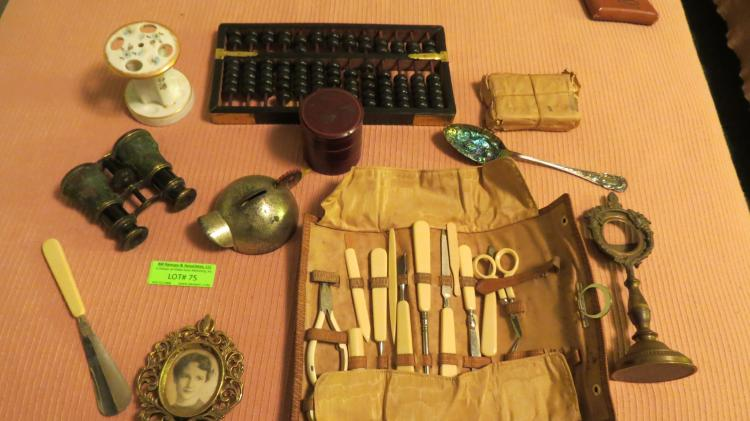 Collection Of Assorted Dresser Top Objects