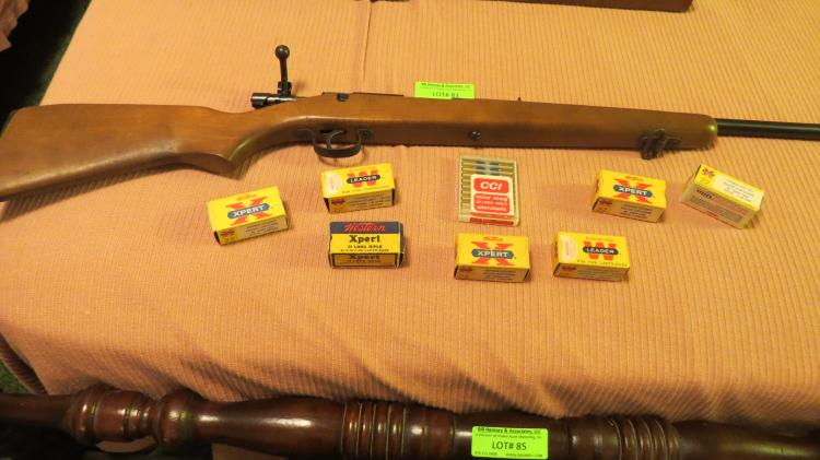 Winchester Single Shot 22 Cal. Rifle With Ammo
