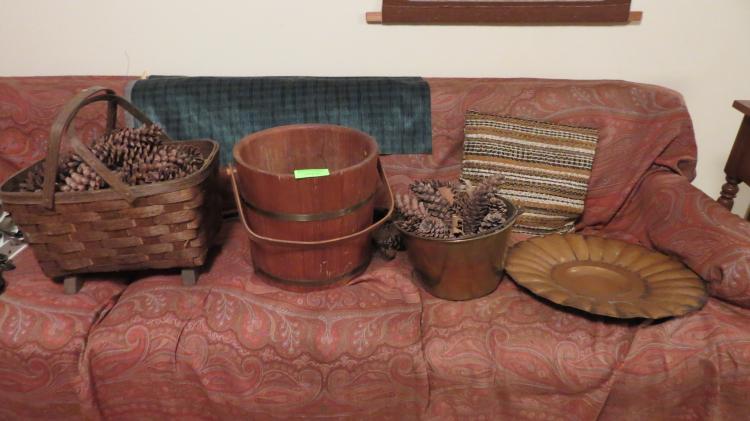 4 Assorted Objects, Buckets, Baskets, Etc.