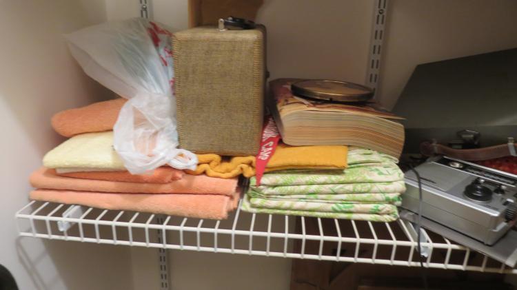 Contents Of Closet, Vintage Clothes, Blankets, Etc.