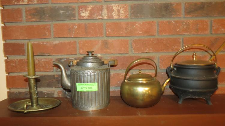 4 Assorted Pitcher, Kettles, Etc.
