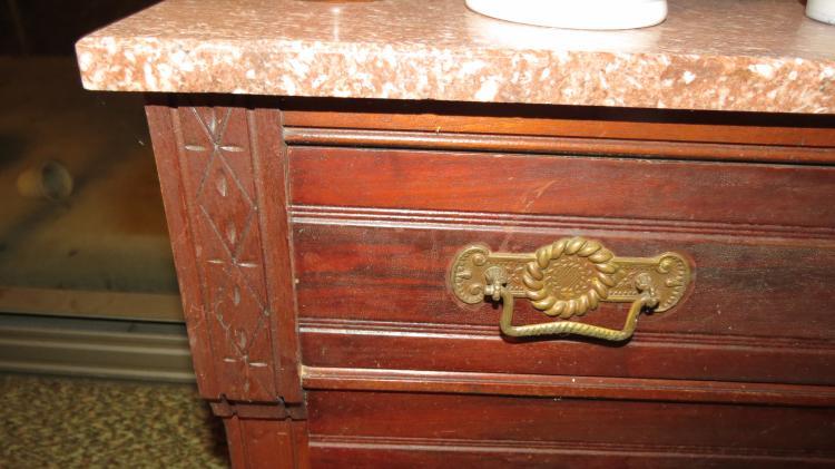3 Drawer Dresser, Mirror, Marble Top