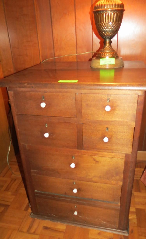 Dark Oak Early 7 Drawer Cabinet