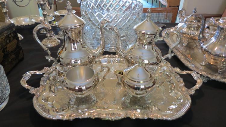 Rodgers silver plate tea set
