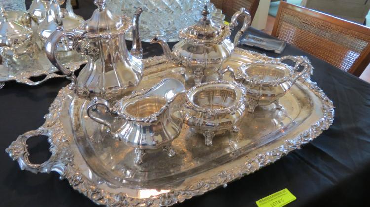 Gorham silver plate tea set