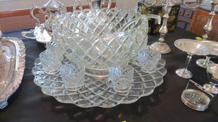 Very large punch bowl set
