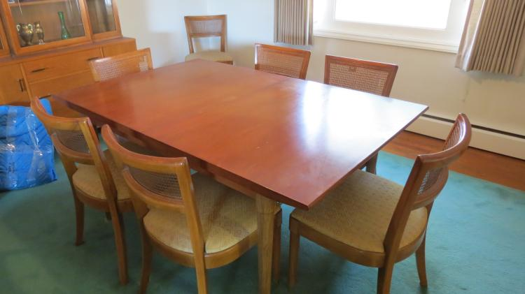 Mid Century Dining Table & 7 Chairs