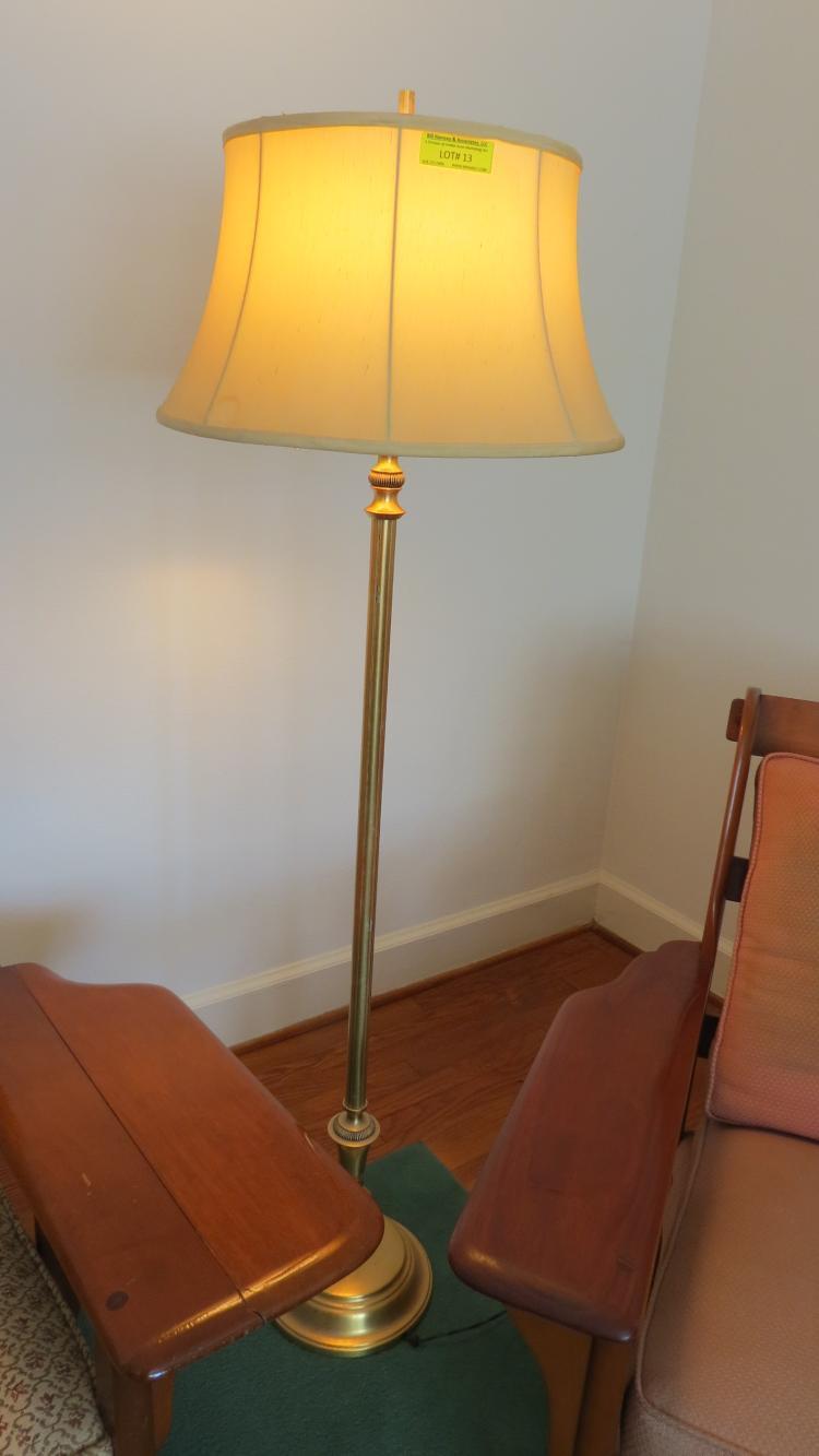 Brass style pole lamp