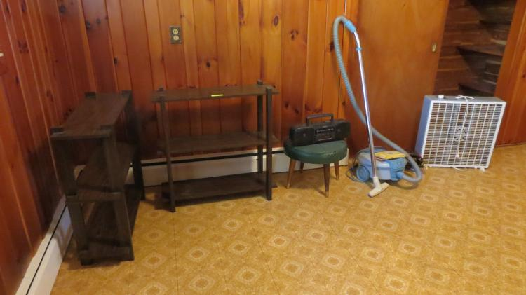 Lot of Misc. Bookcases, Vacuums, etc.