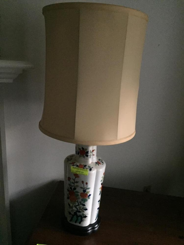 Asian lamp & shade