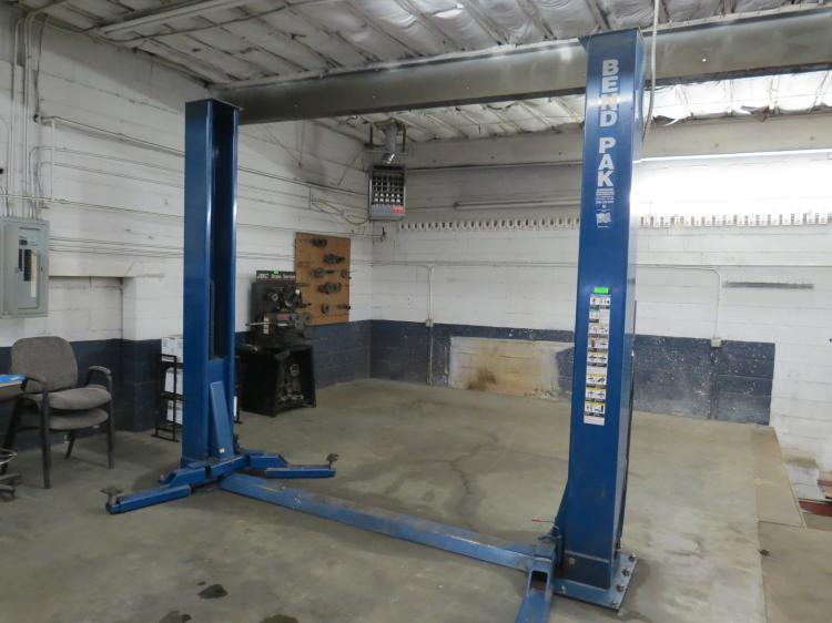 One Bend Pak two post lift