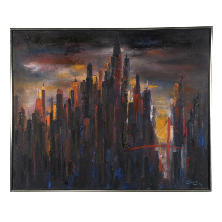 Dietrich Grunewald cityscape painting