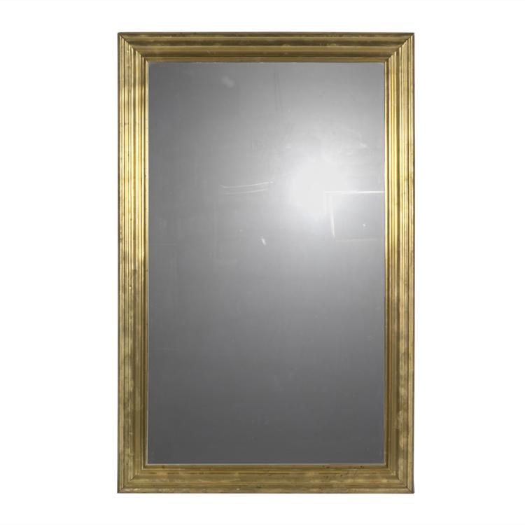 Napolean III brass mirror