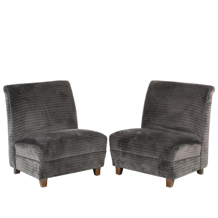 Eugene Schoen custom slipper chairs (2)