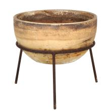 Architectural Pottery bisque planter with stand