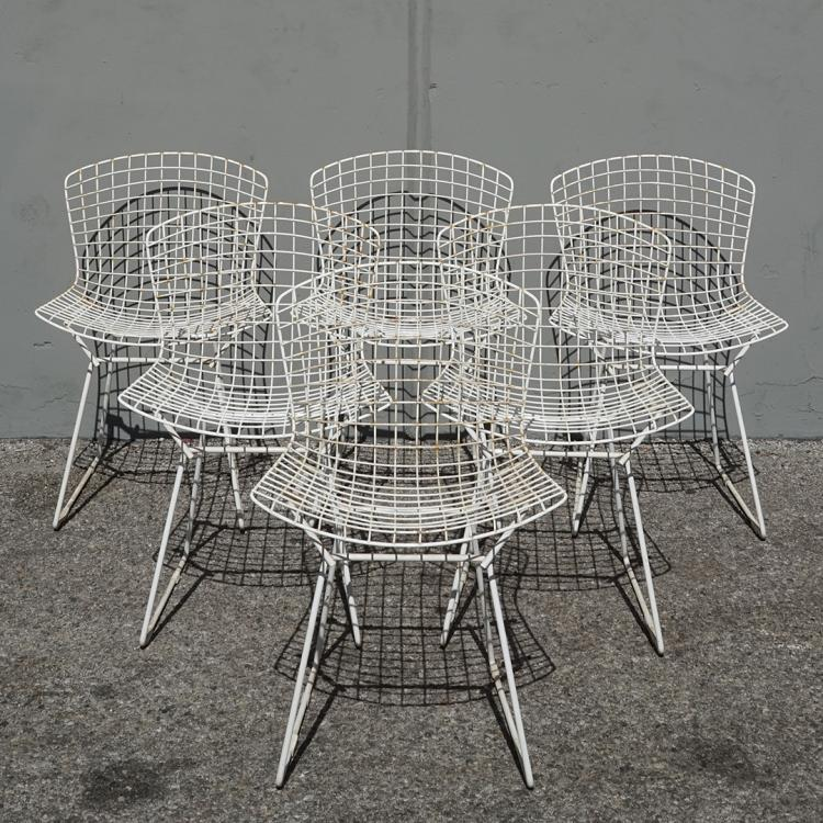 Harry Bertoia side chairs (6)