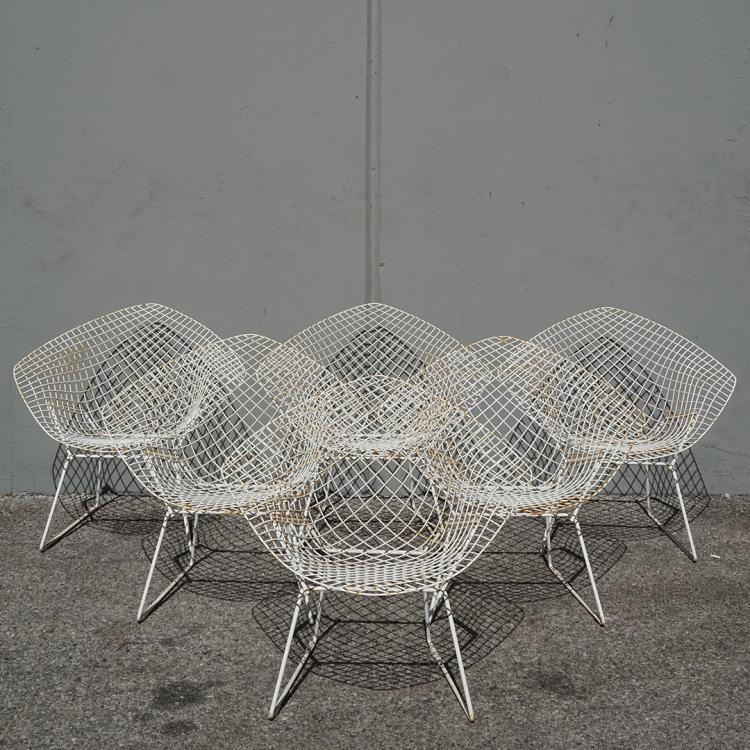 Harry Bertoia Diamond chairs (6)