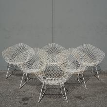Harry Bertoia Diamond chairs (6)