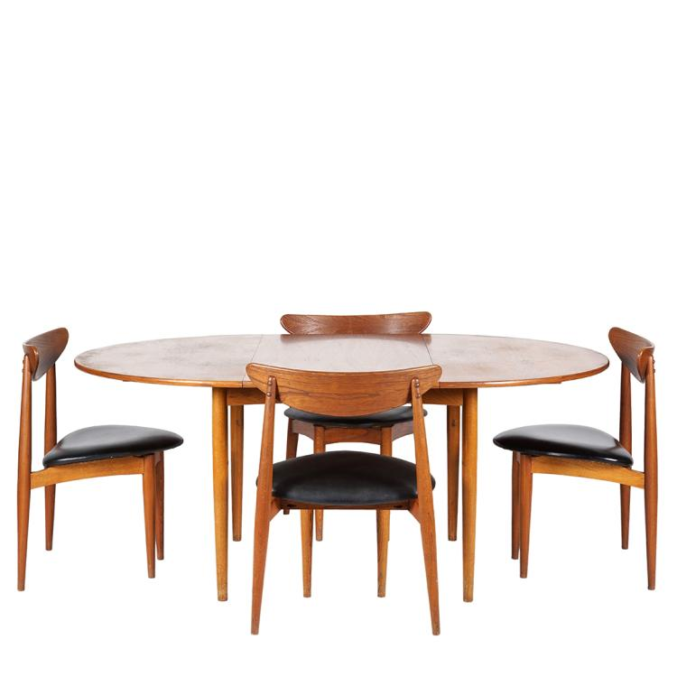 Danish teak table and chairs (5)